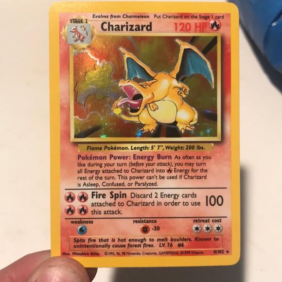 Hollo Charizard Pokemon Card (Base set)